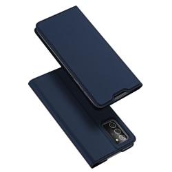 Dux Ducis Skin Pro Läderfodral Galaxy Note 20 Blå