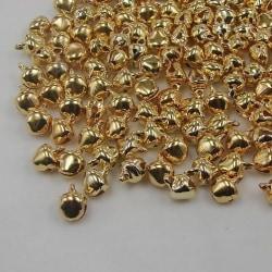 100 pack jul bjällror, dekoration bord hängande gran ris Guld