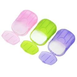 2-pack tvålask med tvål resa portabel  flere färger