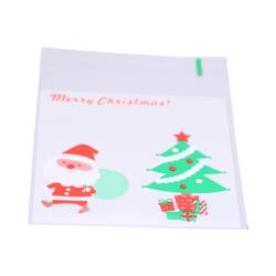 50-pack påse text merry christmas present handgjord gå bort gåva Genomskinlig och färg