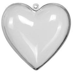 5 pack hjärtan, hänge  Genomskinlig
