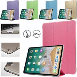Alla modeller iPad fodral/skal/skydd tri-fold plast ljusblå -  Ljusblå Ipad Pro 12.9 gen 3/4 2018/2020
