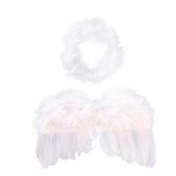 Baby ängel vingar, kort, dekoration, jul, änglavingar vit