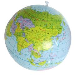 Badboll uppblåsbar boll jordglob utbilda leka sommar bada vatten flerfärgad 30cm