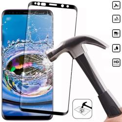 Skärmskydd Samsung S21/S21+/S9/S9+/S8/S8+/S7Edge skal Galaxy - Transparent med svart ram SAMSUNG S8