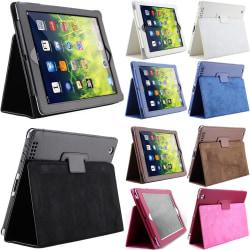 För alla modeller iPad fodral skal svart blå cerise vit brun - Svart Ipad 2/3/4
