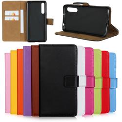Huawei P20/P20Pro/P20lite plånbok skal fodral kort fack brun - Brun P20