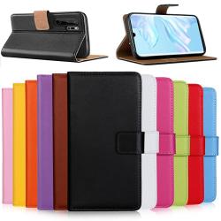 Huawei P30/P30Pro/P30lite plånbok skal fodral kort fack brun - Brun P30
