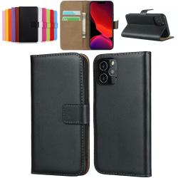iPhone 11 plånboksfodral plånbok fodral skal skydd kort vit - Vit iPhone 11