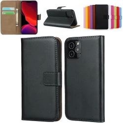 iPhone 11 Pro plånboksfodral plånbok fodral skal skydd svart - Svart iPhone 11 Pro