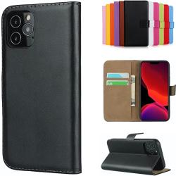 iPhone 12/12 Pro plånboksfodral plånbok fodral skal skydd svart- Svart iPhone 12 / 12 Pro