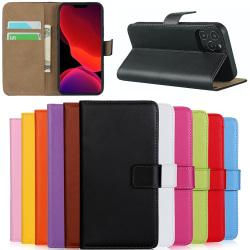 Iphone 12/12Pro/12ProMax/12Mini/SE gen2 plånbok skal fodral - Orange 12ProMax