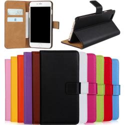 Iphone 6/6s/6+/6s+/7/7+/8/8+ plånbok skal fodral - Cerise Iphone 7+/8+