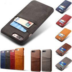 Iphone 7/8 Plus skal kort - Mörkbrun iPhone 7+/8+
