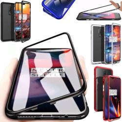 Magnet skal OnePlus 6/6T/7/7Pro skydd fodral magnetskal silver - Silver OnePlus 7