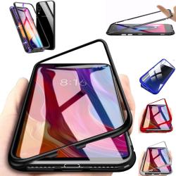 Magnet skal Samsung Galaxy A10/A40/A50/A70/M10 skydd fodral -  Silver A50