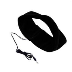 Ögonmask sovmask med hörlurar svart resa sova vila Svart