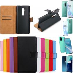 OnePlus 7TPro/8/8T/8Pro plånbok skal fodral kort skydd mobil - Lila 8 Pro