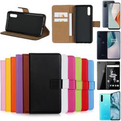 OnePlus Nord/NordN10/NordN100/X plånbok skal fodral kort skydd - Lila Nord N100