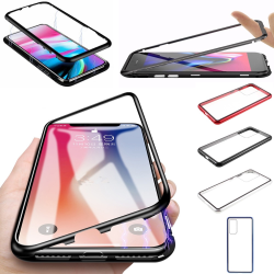 Qi magnet skal skydd fodral Samsung S7/S8/S9/S10/S20 E/+/U/FE - Silver S9