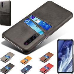 Samsung Galaxy A70 skal fodral skydd skinn kort kredit visa - Blå A70