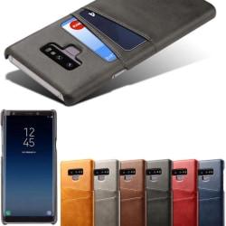 Samsung Note9 skal fodral skydd skinn kort visa mastercard - Svart Note9