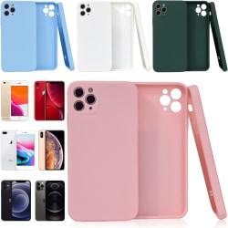 Välj TPU skal Iphone 12/11/XS/X/XR/8/7/6 +/Pro/Max/Mini fodral - Ljusblå Iphone 11