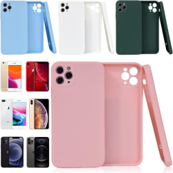 Välj TPU skal Iphone 12/11/XS/X/XR/8/7/6 +/Pro/Max/Mini fodral - Vit Iphone XR