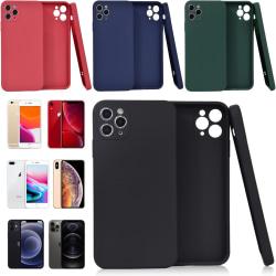 Välj TPU skal Iphone 12/11/XS/X/XR/8/7/6 +/pro/max/mini fodral - Mörkblå Iphone XS Max