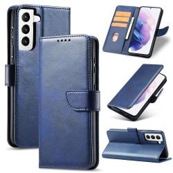 Klassiskt Plånboksfodral Galaxy S21 Blå Blue Samsung Galaxy S21