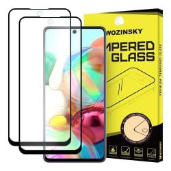 (2-Pack) Heltäckande Skärmskydd Härdat Glas Galaxy A71 Samsung Galaxy A71