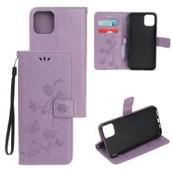 Läderfodral Mönstrat Fjärilar iPhone 12/12 Pro Lila Purple iPhone 12/12 Pro