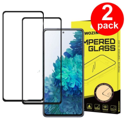 (2-Pack) Heltäckande Skärmskydd Härdat Glas Galaxy S20 FE Samsung Galaxy S20 FE