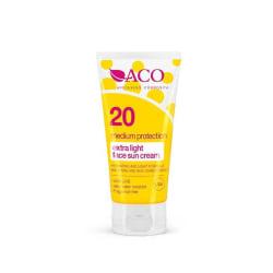 ACO Extra Light Face Sun Cream Spf 20 50ml Transparent