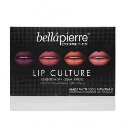 Bellapierre Lip Culture Collection 4 Cream Lipsticks Transparent