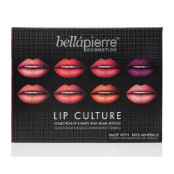 Bellapierre Lip Culture Collection 8 Lipsticks Transparent