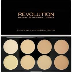 Makeup Revolution Ultra Cover and Conceal Palette Light Svart