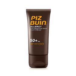 Piz Buin Allergy Sun Sensitive Skin Face Cream SPF50 50ml Transparent