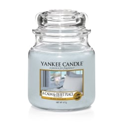 Yankee Candle Classic Medium Jar A Calm & Quiet Place 411g grå