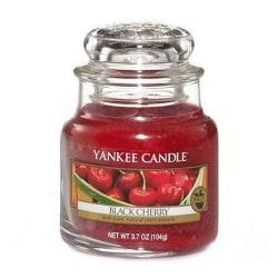 Yankee Candle Classic Small Jar Black Cherry 104g Röd