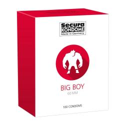 Secura: Big Boy 60 mm, Kondomer, 100-pack Transparent