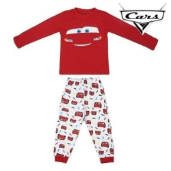 Bilar Lång Pyjamas Röd/Vit Red 2 Years