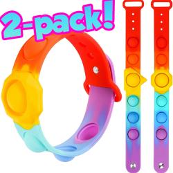 Pop-it armband 2-pack | Justerbar | Fidget Toys