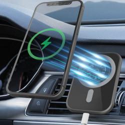15W Magnetisk trådlös laddare till bilen för iPhone 12
