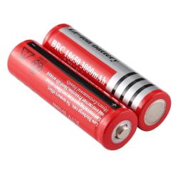 2 st Uppladdningsbara 18650 Batterier Ultrafire 3000 mA, 3,7 Vol