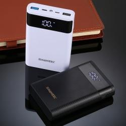 Powebank och laddare för 4 st 18650 batterier Display