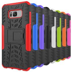 iCoverCase   Samsung Galaxy S8 Plus   Stöttåligt Hybrid Skal   Röd