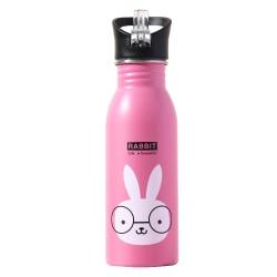 500 ml barnvattenflaska termokopp läckagesäker med munstycke Rosa 1