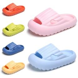 Barn pojkar och flickor plattform tofflor enfärgade badskor Rosa UK=9.5