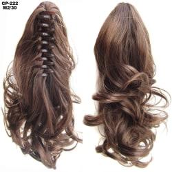 Claw Clip Hästsvanshårförlängning lockigt tjockt långt hår Ljusblåst
